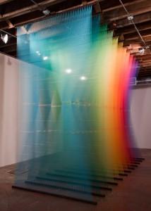 Gabriel Dawe rainbow thread art