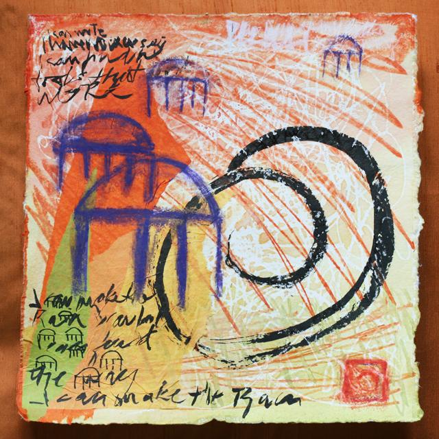 art journaling send my roots rain by linda wiggen Kraft