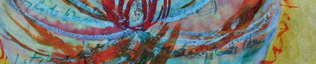 mandala art by linda wiggen kraft, rain series close up of blue mandala