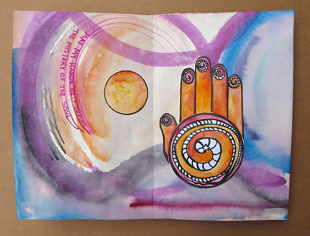 healing-hands-mandalas-orange-spiral-open-page-blog-creativity-for-the-soul-art-linda-wiggen-kraft-blog