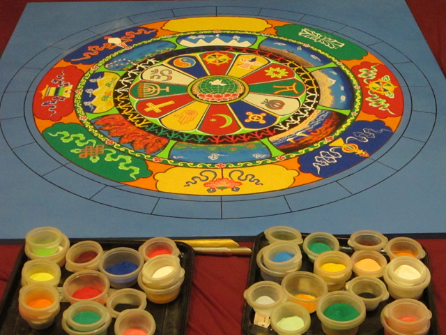 tibetan monks day three Mandala for Peace St. Louis