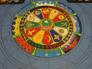 tibetan sand mandala by drepung gomang buddhist monks in saint louis