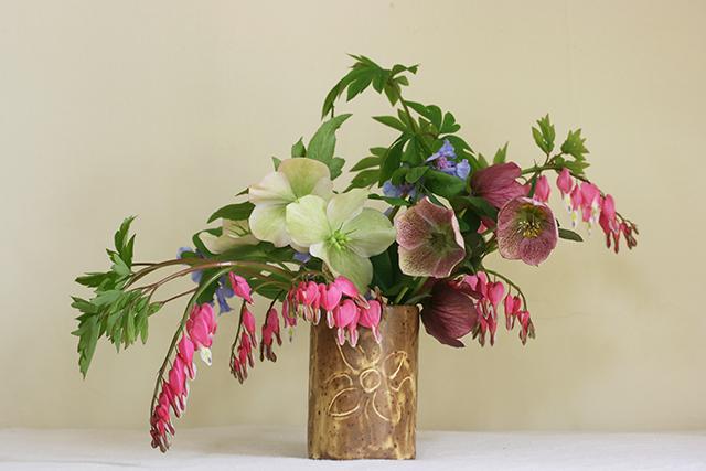 flower-vases-bleeding-heart-helleborus-blue-bells-blog-creativity-for-the-soul-blog