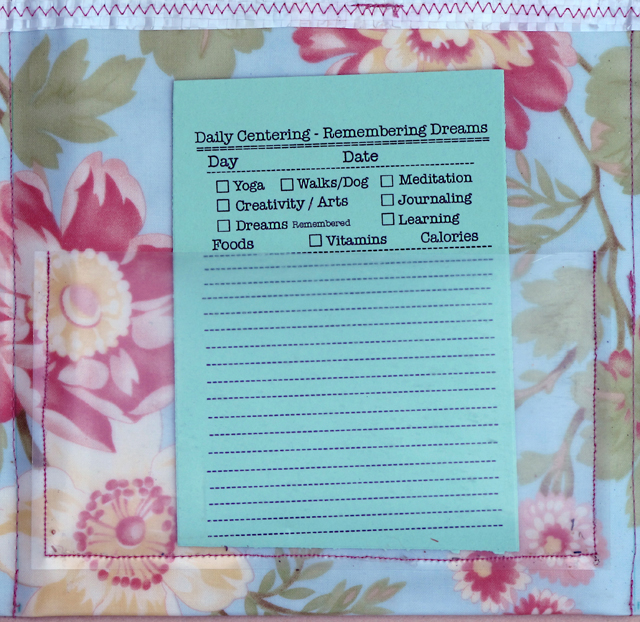 organizer with daily centering sheet by linda wiggen kraft