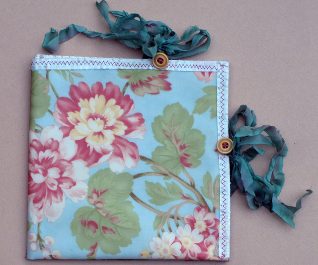 organizer made from floral cloth by linda wiggen kraft