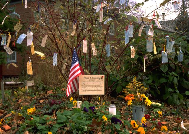 Peace and Healing Garden by Linda Wiggen Kraft for 9/11/2001