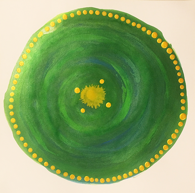 mandala-green-yellow-dots-linda-massie-blog-creativity-for-the-soul-blog