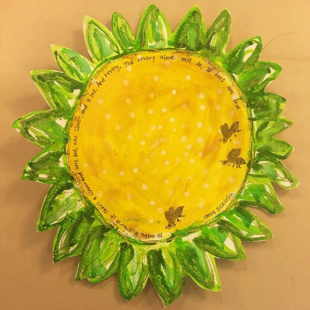 sunflower-bees-karen-martinez-blog-creativity-for-the-soul-blog